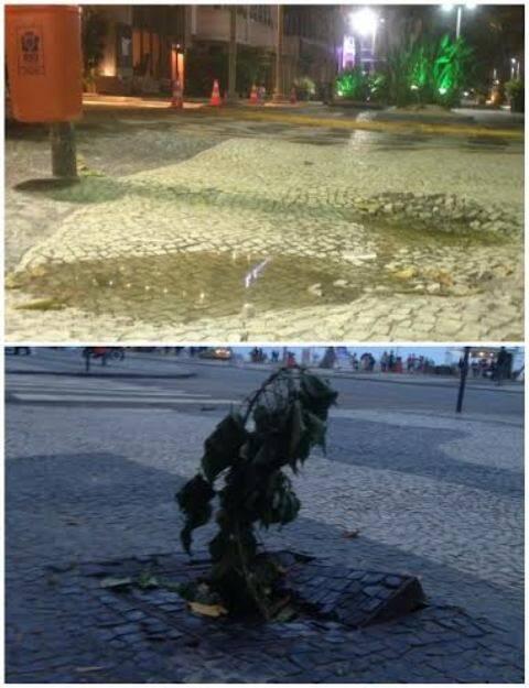 Avenida Atlântica: o que anda acontecendo com o principal cartão postal de Copacabana? São dois exemplos da famoso endereço / Fotos:  leitor da coluna