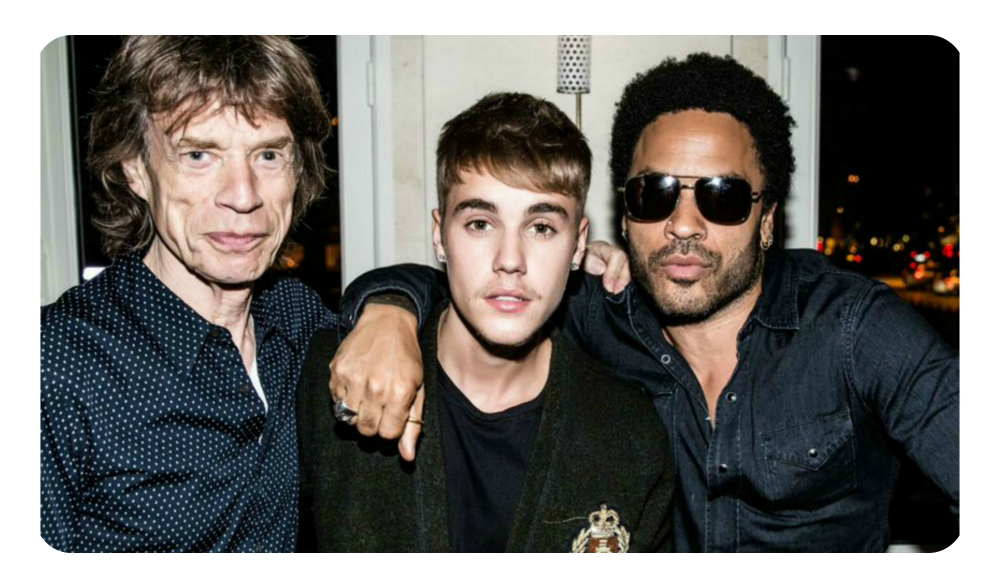 Mick Jagger, Justin Bieber e Lenny Kravitz: presentes no primeiro fim de semana da L'Arc / Foto: divulgação