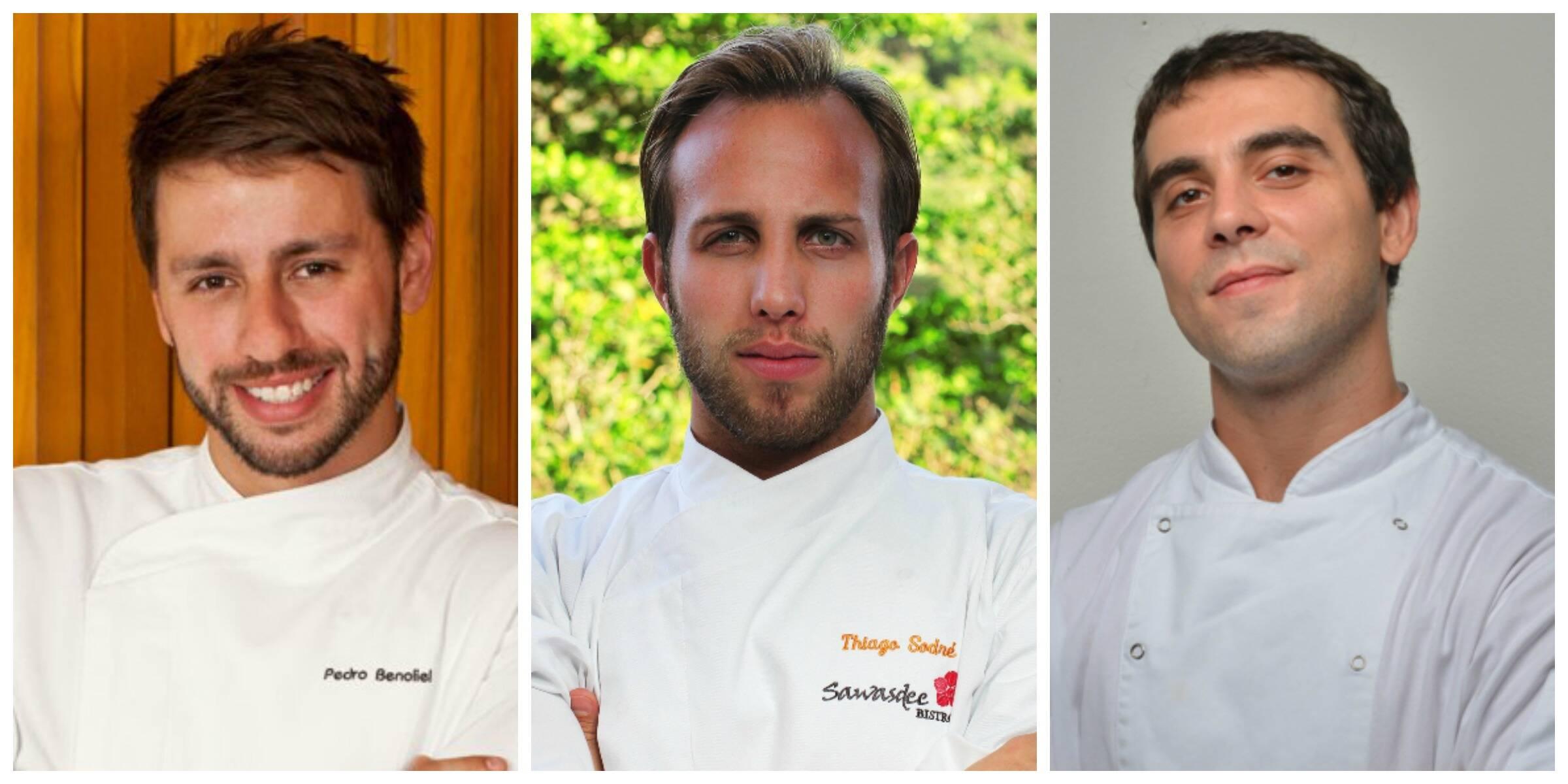 Os meninos da gastronomia carioca: Pedro Benoliel, Thiago Sodré e Thiago Flores / Fotos: divulgação