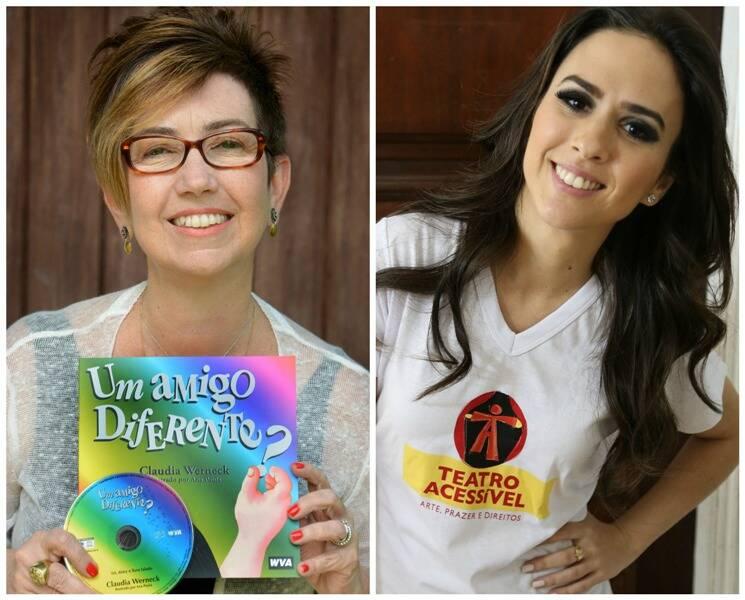 A escritora Claudia Werneck e a filha Tatá Werneck: projeto de Teatro Acessível/ Fotos: Paulo Rodrigues