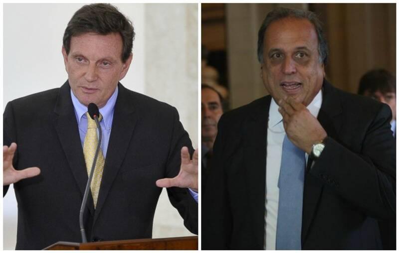 Em cima, Dilma Rousseff (PT) e Aécio Neves; embaixo, Crivella (PRB) e Pezão (PMDB) - clima entre os candidatos é de ofensas/ Fotos: IG
