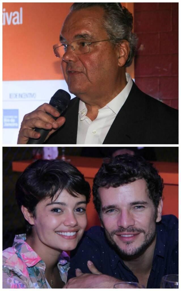O homenageado da noite, Eduardo Eugenio Gouvêa Vieira; acima, Daniel de Oliveira e Sophie Charlotte / Fotos: Rogério Resende