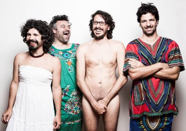 """Os integrantes do """"Mulheres Q Dizem Sim"""": Pedro Sá, Domenico, Palito e Maurício Pacheco / Foto: Divulgação"""