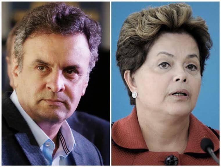 Aécio Neves e Dilma Rousseff: pelo menos 300 mulheres morrem por ano, pelo aborto ilegal - os candidatos não vão falara nada? Fotos: reprodução Internet