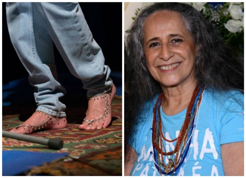 Maria Bethânia: cantora usou joia nos pés e guias de santo aparentes em show nessa quarta-feira / Foto: Paulo Jabur
