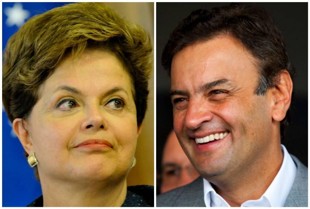 Dilma e Aécio: candidatos disputam segundo turno/ Fotos: reprodução