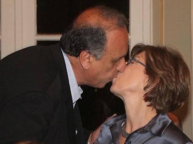 Luiz Fernando Pezão e Maria Lucia Jardim: governador eleito teve em casa o maior cabo eleitoral - sua mulher / Foto: Antonio Kampffe