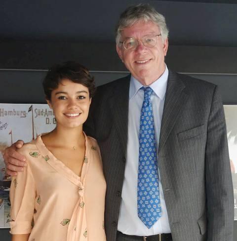 Sophie Charlotte e o cônsul da Alemanha no Rio, Harald Klein / Foto: divulgação