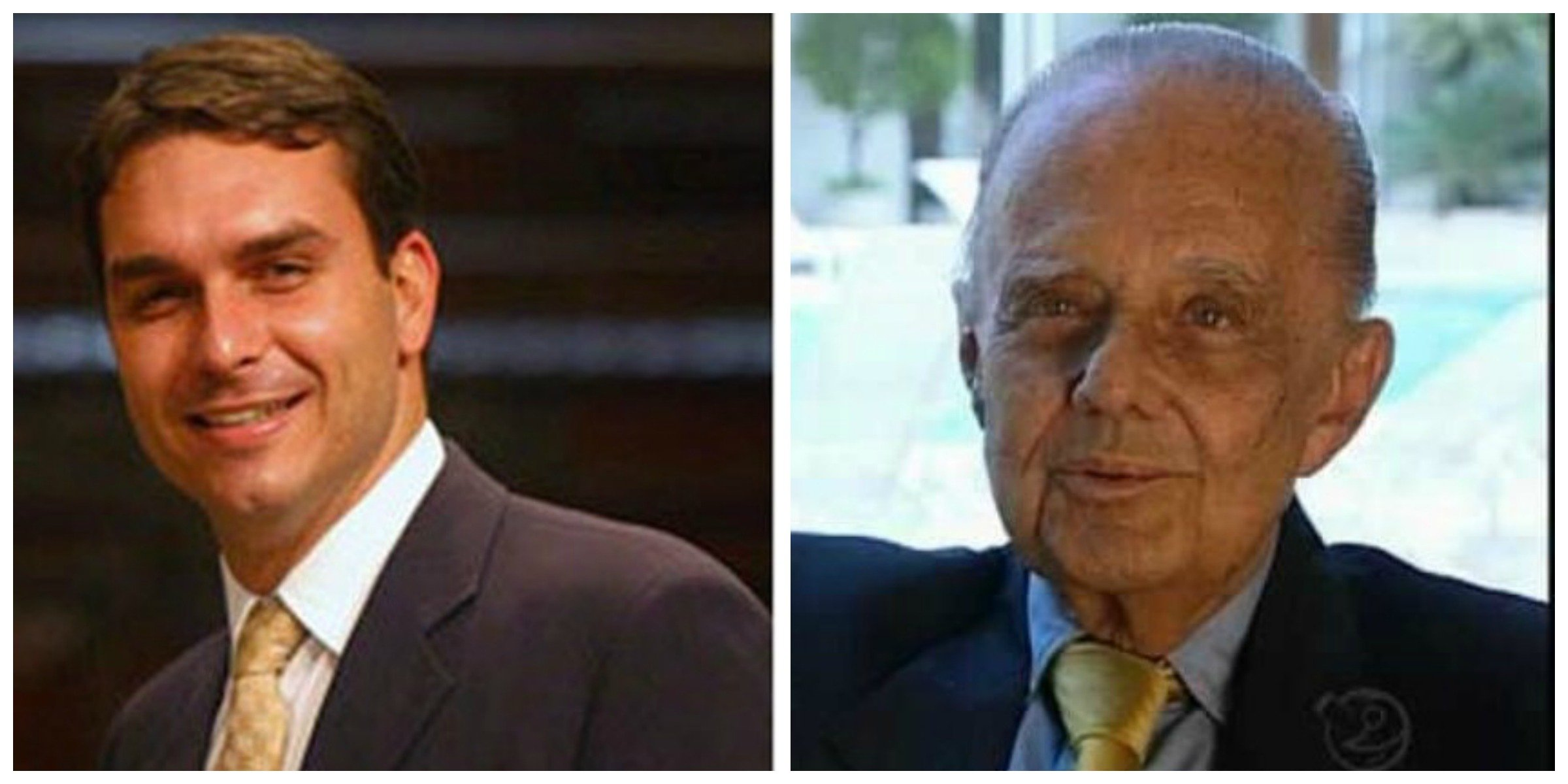 O deputado Flávio Bolsonaro presta homenagem na Alerj, quinta-feira, à memória de Jorginho Guinle / Foto: reprodução da internet