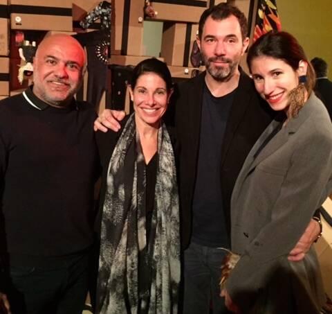 Paulo Pereira, Lilian Rosas, diretora de compras do Monoprix, o estilista Jose Levy e a  blogueira Paula Rita Saady / Foto: divulgação