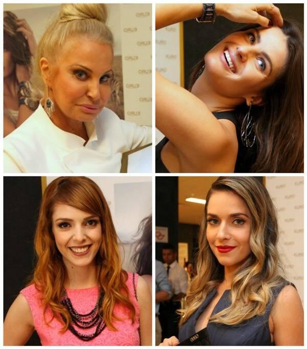 Em sentido horário: Brunete Fraccaroli, Isabeli Fontana, Titi Müller e Monique Alfradique/ Fotos: divulgação
