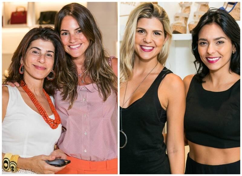 Na esquerda, Patricia Peltier e Juliana Calcena; na direita, Mariana Reis e Fernanda Britto/ Fotos: Bruno Ryfer