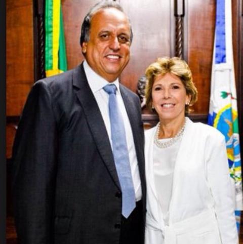 O governador Pezão e a primeira-dama Maria Lucia Horta Jardim / Foto: reprodução da internet