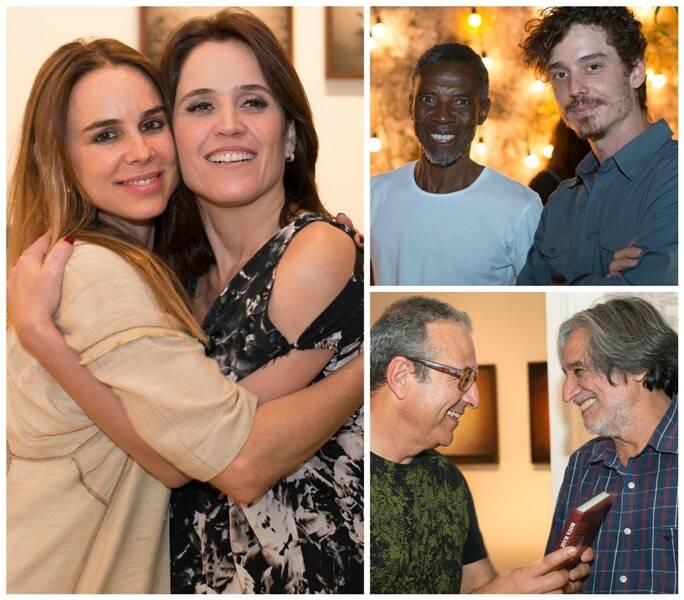 À esquerda, Ana Stewart e Ana Luíza Guimarães; ao lado, Eustáquio Neves e o fotógrafo Pedro David; e, embaixo, Rogério Reis e Luiz Garrido/ Fotos: divulgação