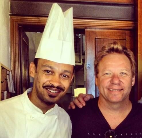 Jefferson Moraes e Claude Troisgros, no seu encontro na Toscana / Foto: divulgação