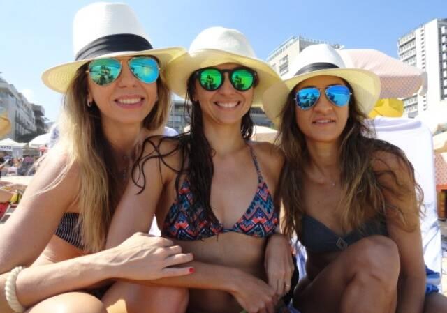 Viviana Solanês, Antônia Tapajós e Renata Pinto Guimarães: três lindas cariocas que deixam as amigas atentas ao que fazem
