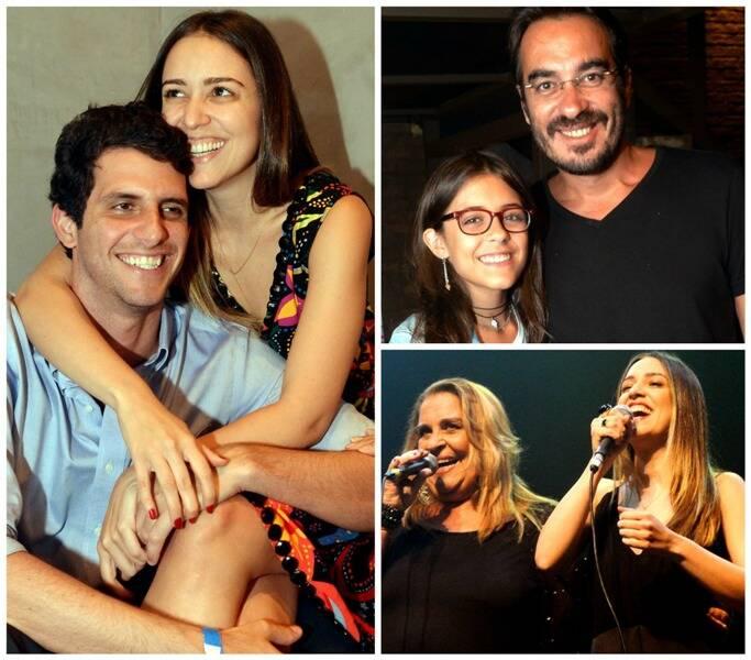 À esquerda, Roberta Sá com o namorado, Antônio; Beatriz e o pai, Berna Lobo; e, embaixo, Wanda Sá e Roberta/ Fotos: Cristina Granato