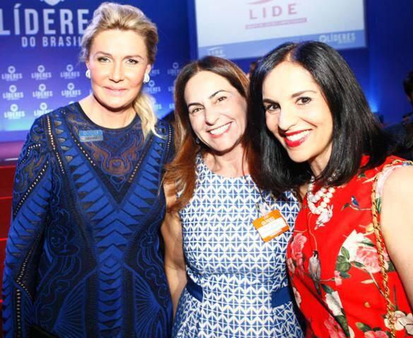 Bia Doria, Sílvia Quirós e a primeira-dama de São Paulo, Lu Alckmin, na festa do LIDE e do SBT / Foto: Gustavo Rampini e Imagem Paulista