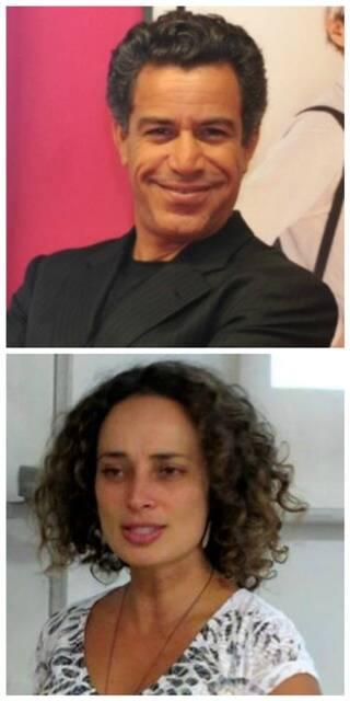 Calainho e a jornalista Karina, que apresentou a Amazònia ao empresário / Fotos: Ana Colla e reprodução da internet