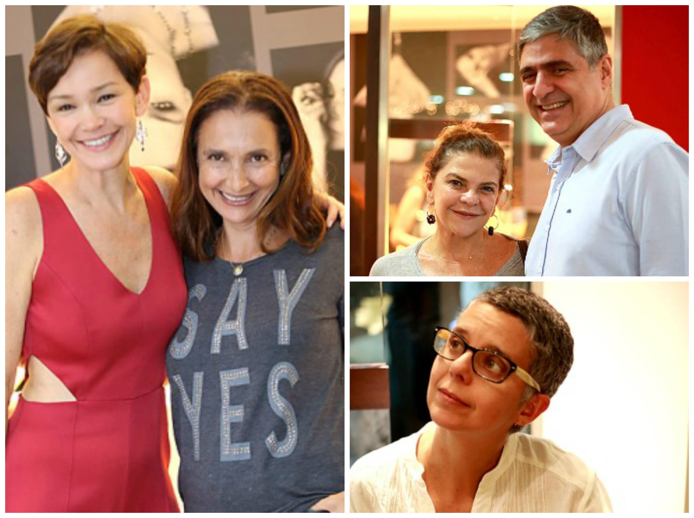 Em sentido horário, Julia Lemmertz e Junia Machado: Helena Brício e Toni Oliveira; a fotógrafa Nana Moraes / Fotos: Murillo Tinoco /  AGi9