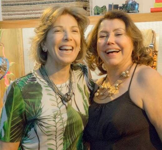 Maria Lucia Horta Jardim e Maria Oiticia, no Festival Imersões, no Lagoon / Foto: divulgação