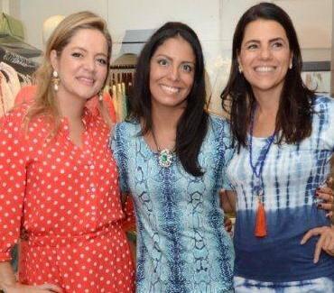 Nanda Nunes entre Bianca e Teresa Gibbon