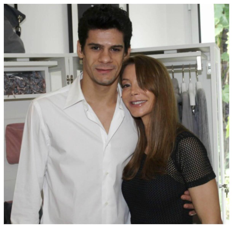 No alto, dois momentos de Thiago Soares com a bailarina Luiza Lopes; acima, ele e a empresária Luciana Mantegazza/ Fotos: divulgação