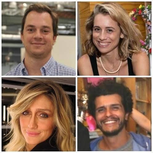 Arnon de Mello Neto, Joana Almeida Braga, Amora Mautner e Guilherme Coelho: os casais se desfizeram e se refizerem de outra maneira