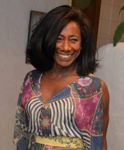 A jornalista Glória Maria, primeira negra de projeção no Brasil em sua profissão