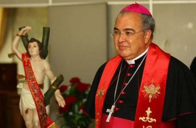 Dom Orani Tempesta e a imagem peregrina de São Sebastião, padroeiro do Rio / Foto: divulgação