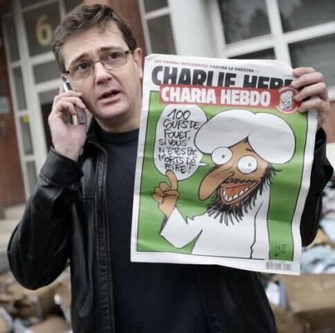 """Stéphane Charbonnier, o Charb, diretor do Charlie Hebdo: """"""""Prefiro morrer de pé a viver de joelhos - que essa frase seja exemplo / Foto: reprodução Internet"""