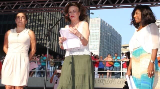 """Cissa Guimarães, Rosamaria Murtinho e Glória Maria: a jornalista e as artistas não cobraram nada para participar de evento: """"O cachê que eu, a Cissa e a Rosamaria recebemos foi o carinho e o amor das pessoas"""", diz Glória / Foto: Marcelo Borgongino"""