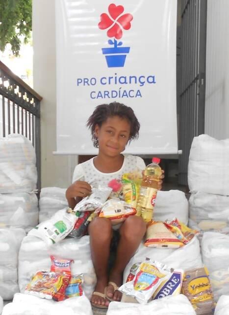 Yasmin Costa, de oito anos: uma das crianças atendidas pelo projeto social do Pro Criança Cardíaca / Foto: divulgação