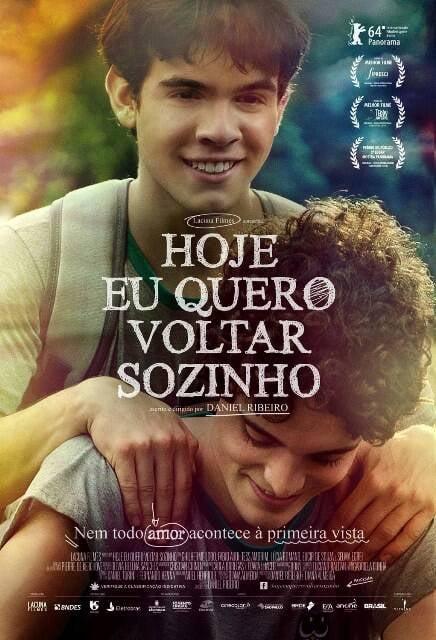 """Cartaz de """"Hoje eu quero voltar sozinho"""":  o filme vai disputar o Glaad Awards, uma espécie de Oscar dos filmes gays / Foto: divulgação"""