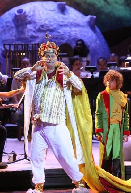 "Paulo César Pereio e Antônio Rabello no concerto ""O Pequeno Príncipe"" / Foto: Caru Ribeiro"