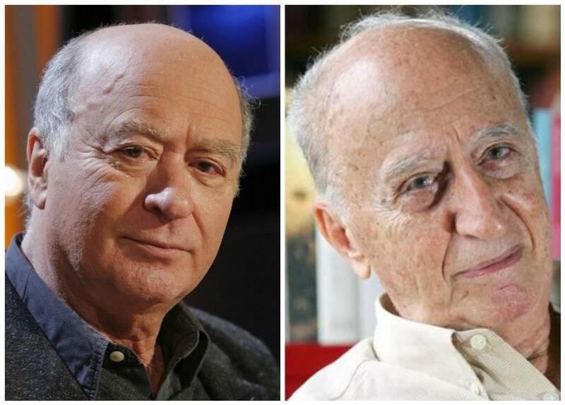 Georges Wolinski e Millôr Fernandes - os dois até se parecem/ Fotos: divulgação e IG