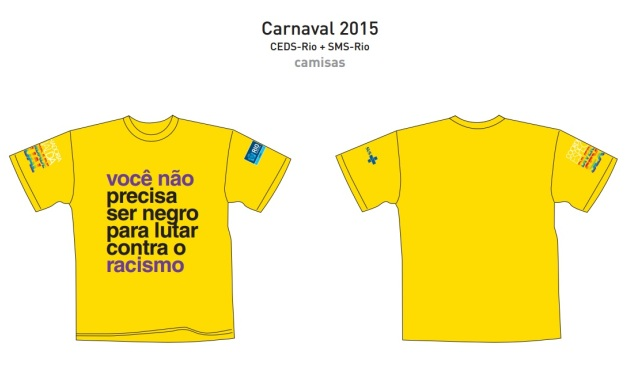 Um dos modelos de camisetas da campanha lançada, nesta quarta-feira, pela Coordenadoria Especial da Diversidade  Sexual / Foto: divulgação