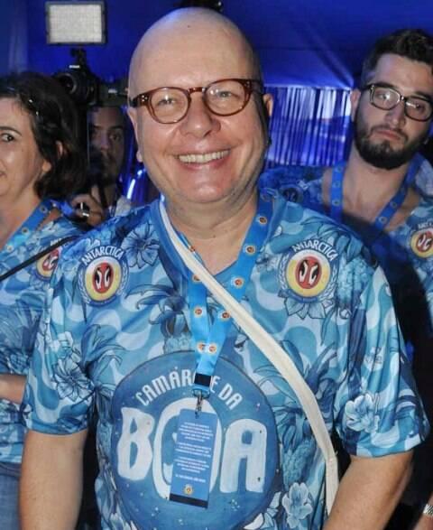 Marcelo Tas assistiu ao desfile das campeãs, este sábado, no Camarote da Boa / Foto: Marcelo Novaes