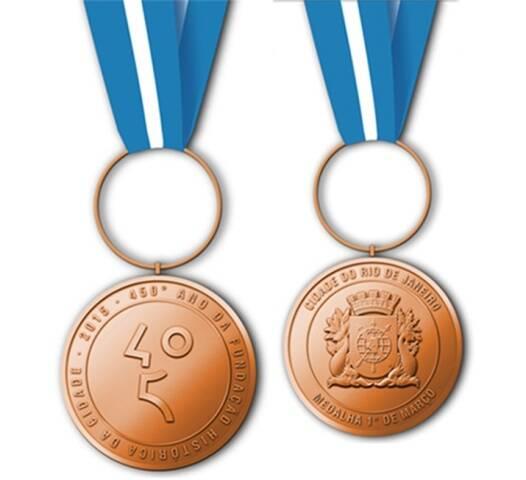 A Medalha 1º de Março vai ser concedida pelo prefeito Eduardo Paes a cariocas honorários, nascidos na cidade ou não / Foto: divulgação