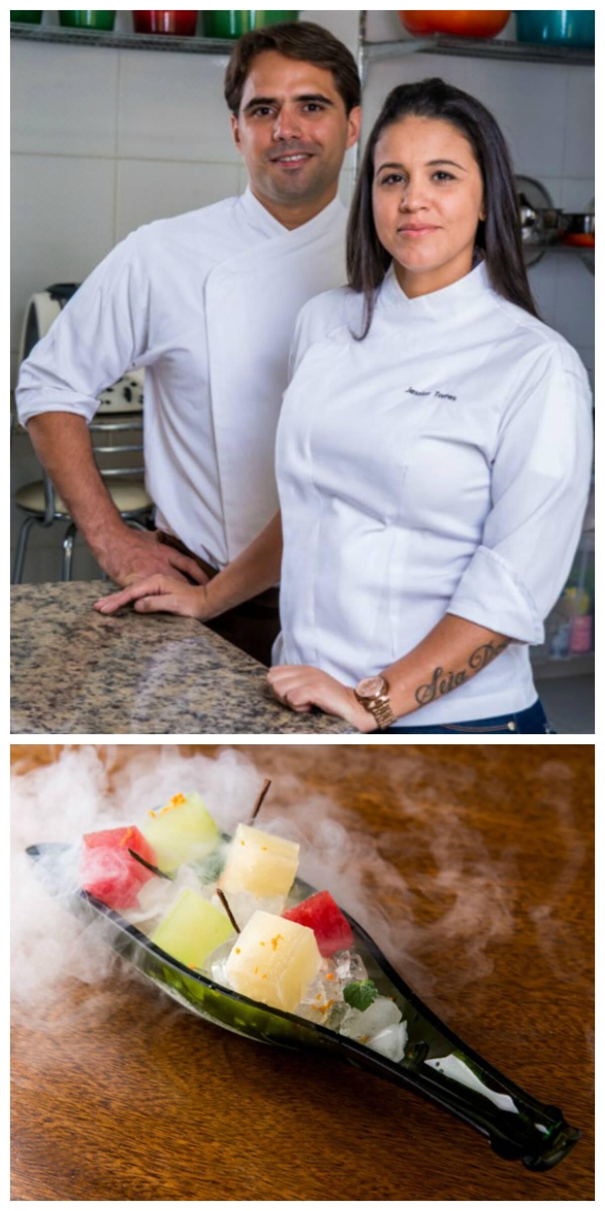 Rodrigo e Jessica estão no comando do bufê i+d: gastronomia lúdica e contemporânea/ Foto: divulgação