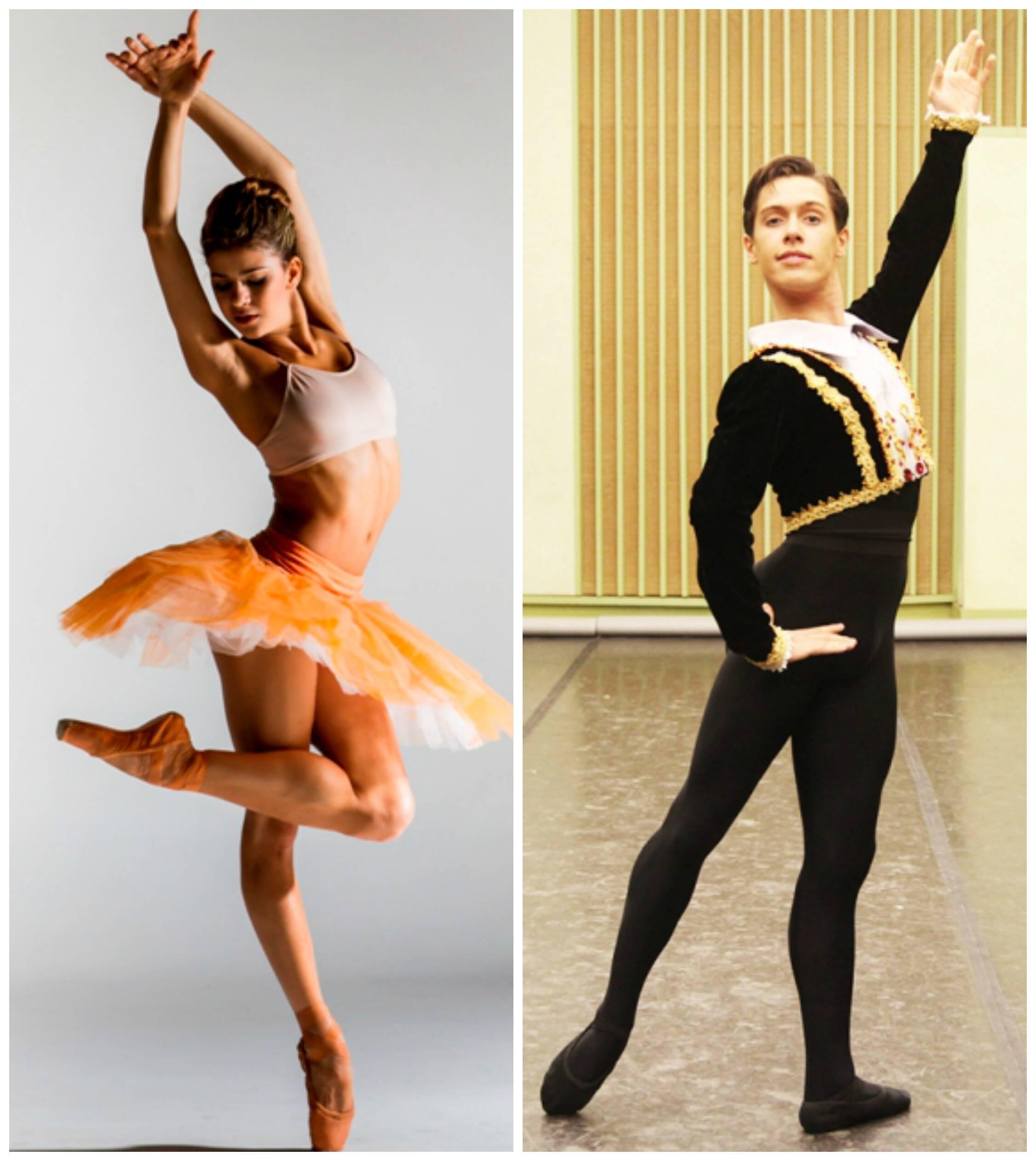 Mayara e Ivan: dois casos de ex-alunos do Dançar a Vida que conseguiram projeção na carreira / Fotos: divulgação