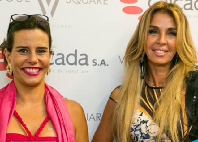 Narcisa Tamborindeguy e Nina Stevens: a carioca alugou o apartamento que herdou da mãe, na Atlântica / Foto: Bruno Ryfer