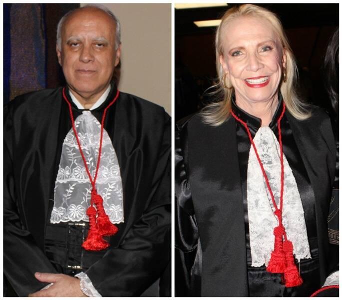 À esquerda, o novo presidente do TJRJ, Luiz Fernando Carvalho; e, ao lado, a vice-presidente Maria Inês / Fotos: Geraldo Valadares