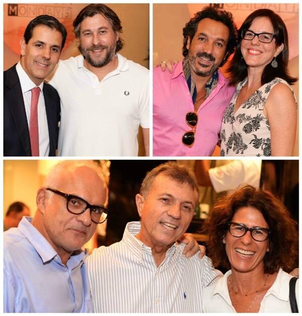 Em cima, à esquerda, Alexandre Wrobel e Guilherme Borges; ao lado, Irajá Carneiro e Marcia Disitzer; e, embaixo, Jeronimo Machado, Mauro Spindola e Rachel Sabag/ Fotos: Ari Kaye
