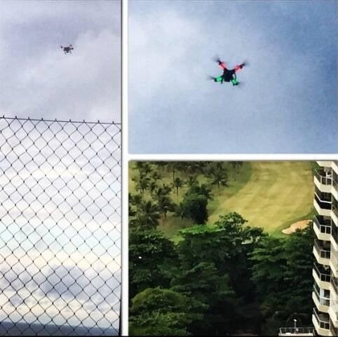 O drone cujo dono não foi identificado: perigo nos céus de São Conrado/ Fotos: Bella Cardim