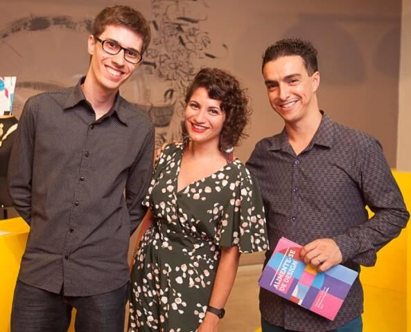 Bruno Pergher, Priscila Curce e Bruno Cardoso dos Santos, premiados