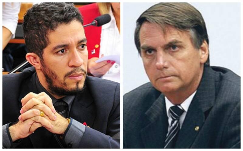 Jair Bolsonaro (PP-RJ) e Jean Wyllys (PSOL-RJ): políticos se sentariam lado a lado em um voo nesta terça-feira (07/04), no Rio para Brasília, Jean Wyllys levantou-se e pediu para mudar de poltrona / Fotos: IG