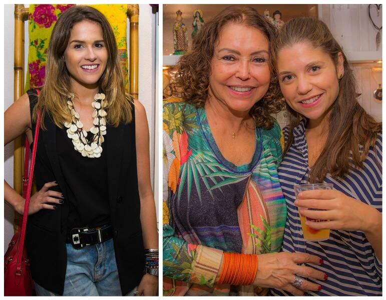À esquerda, Laila Coelho; e, ao lado, Maria Oiticica com Paula Bedram/ Fotos: Marcelo Rodriguez