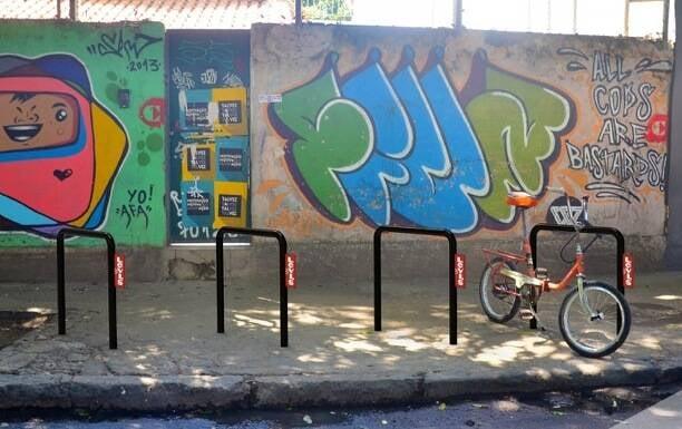 Dois bicicletários - que os paulistas chamam de paraciclos - vão ser inaugurados, nesta quinta, no Centro e em Botafogo/ Foto: divulgação