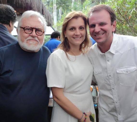 Amaral com Cris e Eduardo Paes